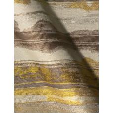 Banda csíkos bútorszövet -barna,arany,drapp-