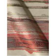 Banda csíkos bútorszövet -piros,szürke,drapp-