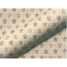 Brokát jellegű jackuard virágos bútorszövet