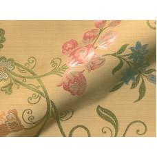 Cecilienhof Klasszikus virágmintás hímzett bútorszövet